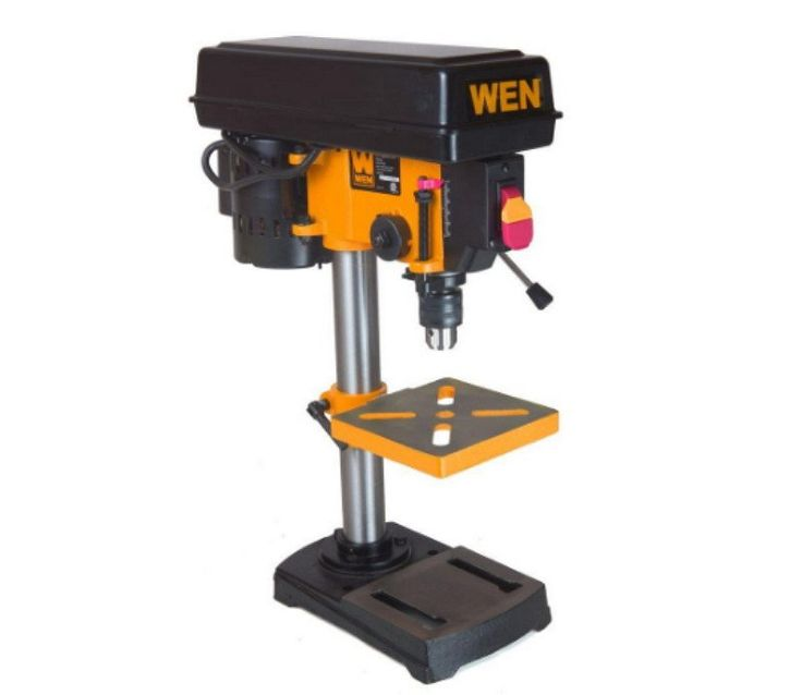 WEN 8 In. Swing 5-Speed Drill Press Durable 1/3 HP Induction Motor 1/2 In. Chuck