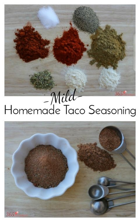 Mild Homemade Taco Seasoning