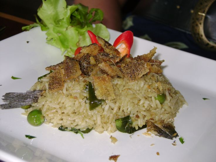 Fish Rice with chilies in Bangkok