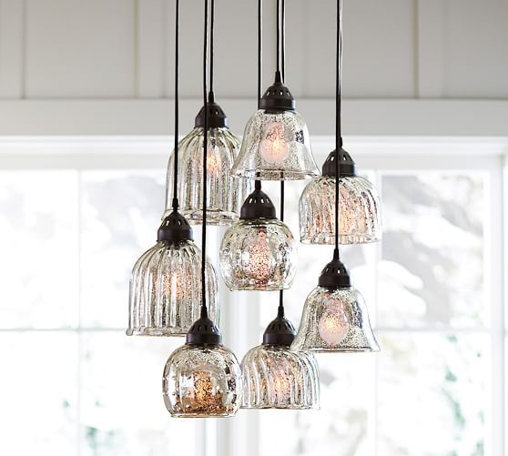 Kenzie Mercury Chandelier | Pottery Barn I think I found the one!