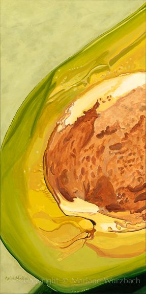 Marlane Wurzbach ACRYLIC Slice of Avocado Green