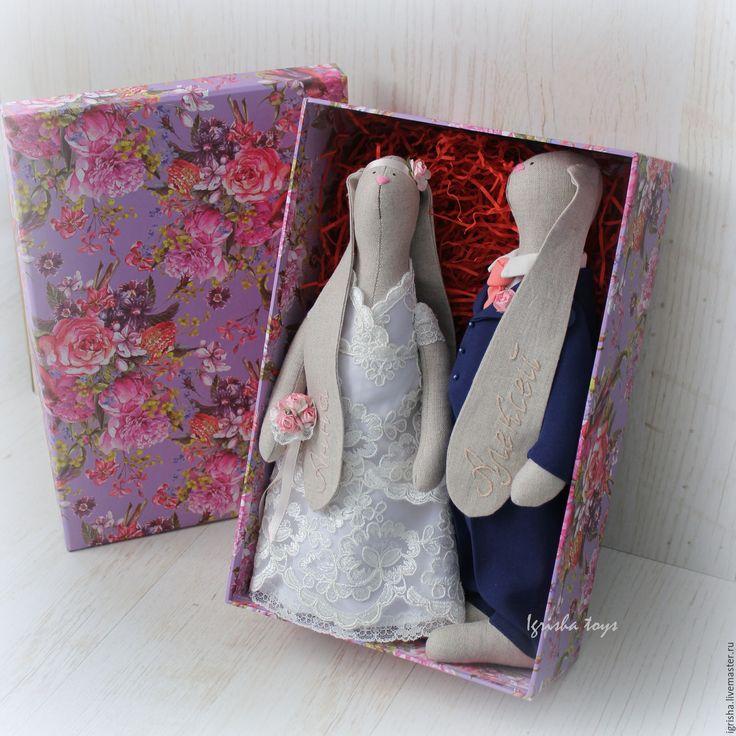 Купить Свадебные зайцы Тильда. Пара зайчиков - свадебные зайцы, свадебные зайки, свадебная пара