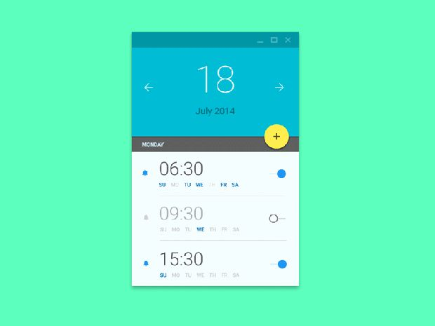 10 Awesome Examples of Material Design Réveil App android  animation