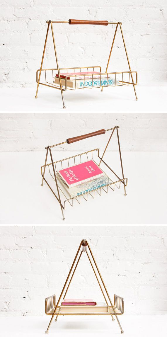 Elevate your reading materials with a handsome vintage wire rack. #etsyhome