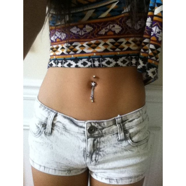 belly button piercing | Tumblr  liked on Polyvore