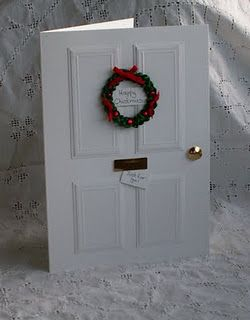 Christmas Door Tutorial You could also just use a photo of your own door ...nice on party invitations....or another pretty door. I like the door knob and wreath and letter box ideas