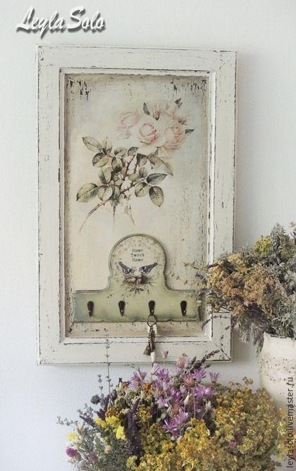 Handmade corredor.  Mestres Fair - handmade.  Compre governanta para proteger painéis Roses.  Handmade.  Olive, governanta, Decoupage