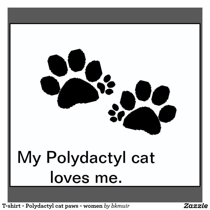 T-shirt - Polydactyl cat paws - women | Zazzle