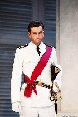 David Tennant.  In uniform.  I think I just died.
