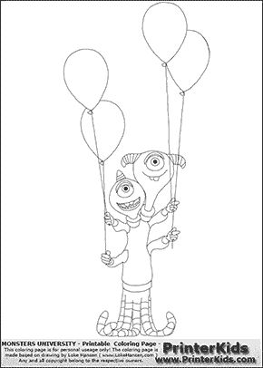 Monsters University - Terri and Terry Perry #13 - Coloring Page