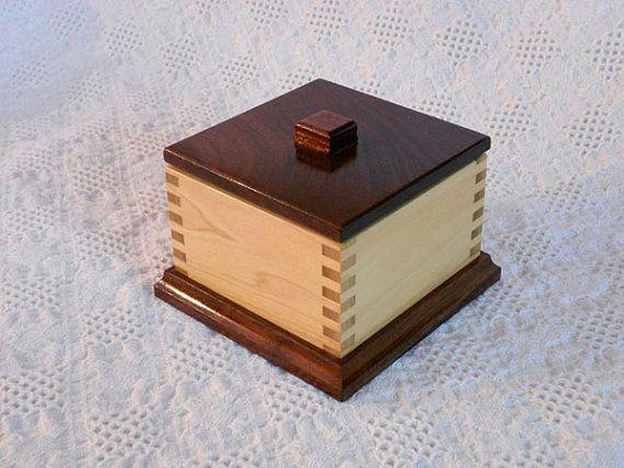 Wooden Keepsake Box Walnut and Poplar