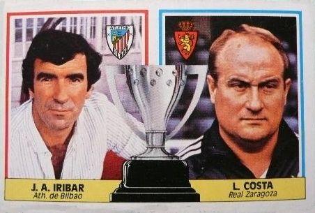 Cromo de Iríbar. Athletic Club de Bilbao. Temporada 1986-87. Entrenadores. Editorial Este.