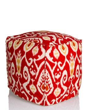 Divine Designs Ikat Pouffe