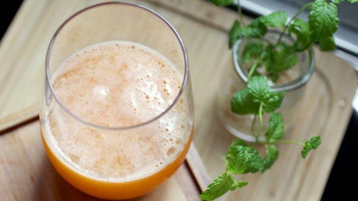 Agua de coco y zanahoria, bebida saludable