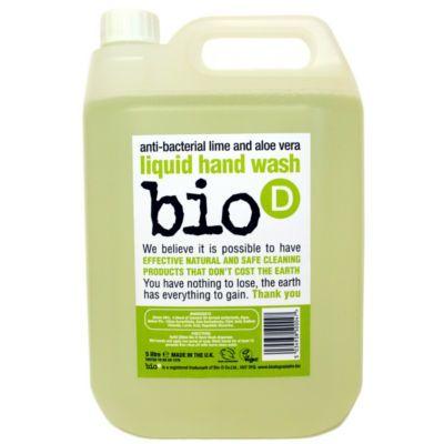 Bio-D Οικολογικό Βιοδιασπώμενο Αντιβακτηριδιακό Υγρό Σαπούνι Χεριών Κίτρο και Αλόη Βέρα 5LT - Sunnyside