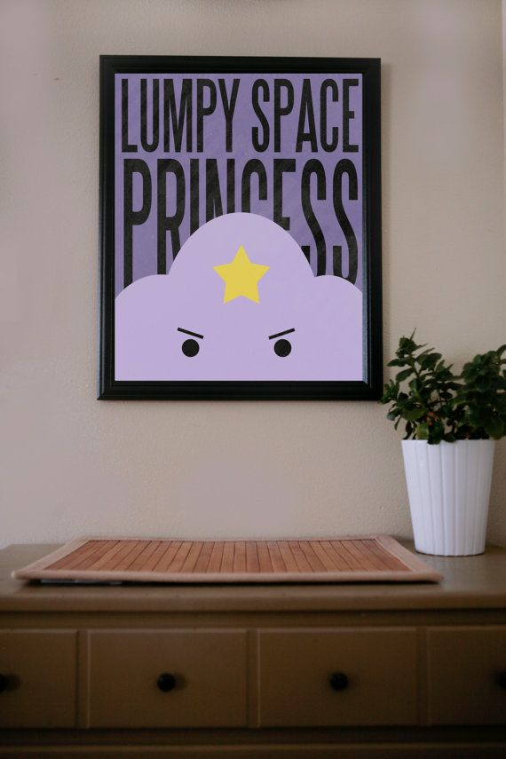 Adventure Time / Lumpy Space Princess / Poster via Etsy