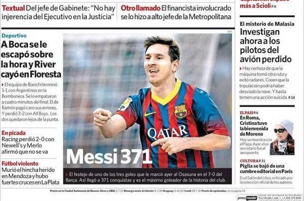 La prensa mundial se rinde al 'Messi-show' #Messi #FCBarcelona