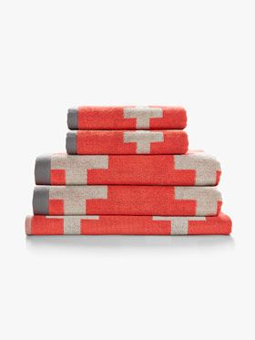 Crosses Bath Towel Set
