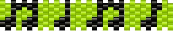 tiny music notes bead pattern