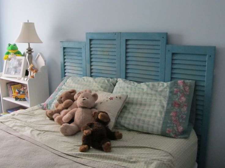 Lauren likes Shutters headboards.  If you're going to do it, I like this staggered height.