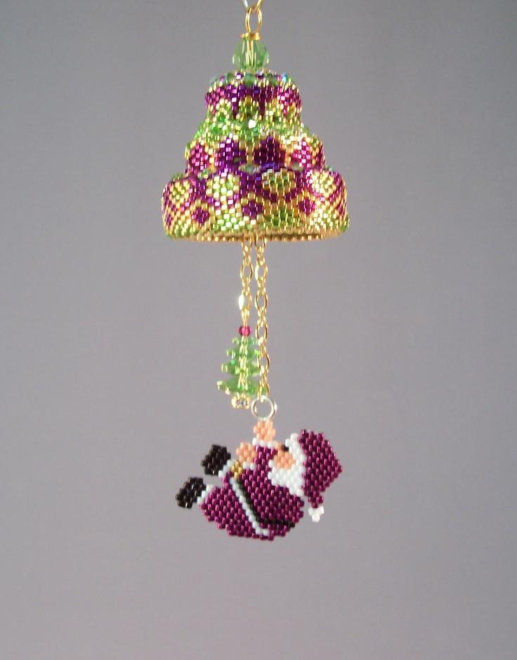 124 best Beaded Ornaments images on Pinterest  Beaded christmas
