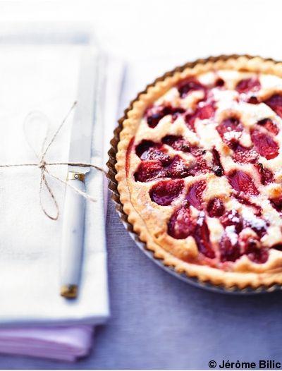 Tarte aux fraises    pour 6 personnes - Recettes Elle à Table