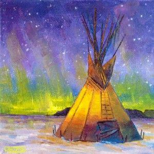 Trio Painting Ideas Northern Lights