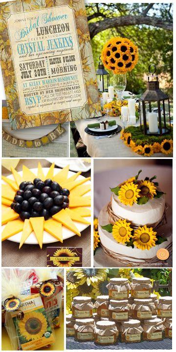 burlap and sunflower wedding ideas | Bright as Sunshine Sunflower Bridal Shower Party Inspiration