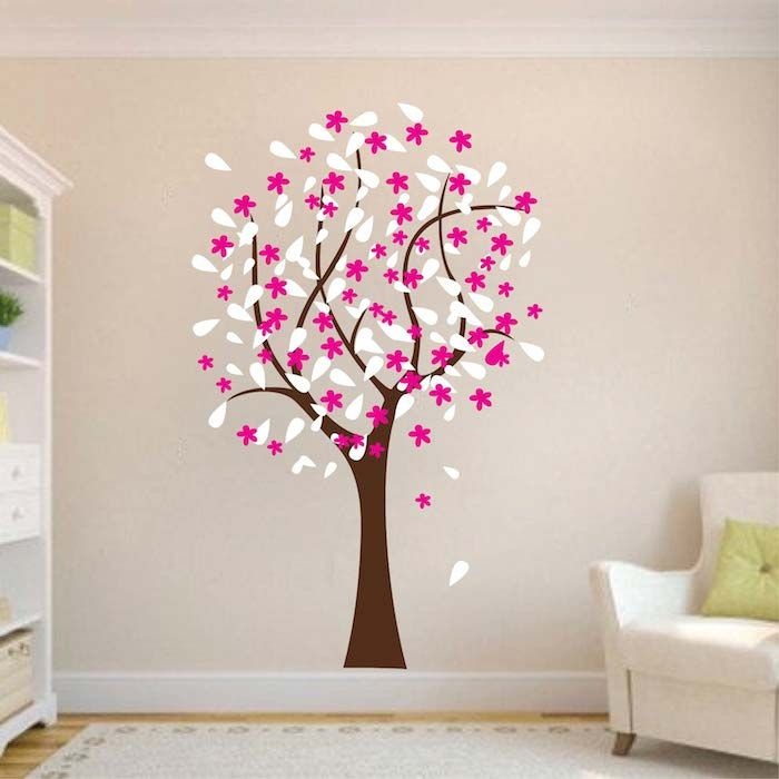 Happy Tree Wall Decal. 17 Best images about Floral  Branch   Tree Wall Decals on Pinterest