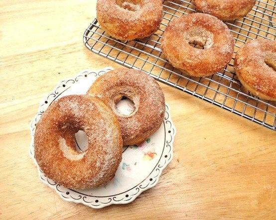 Baked Cinnamon Sugar Apple Doughnuts | Menu | Pinterest