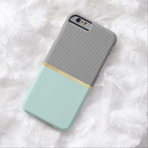 Love this iPhone 6 Case! Aqua, Gold and Stripes iPhone 6 Case