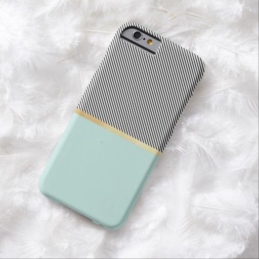 Love this iPhone 6 Case! Aqua, Gold and Stripes iPhone 6 Case