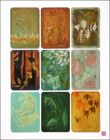 Artist: April Shin  Title: Autumns  Medium: Mixed Media on Board  Size:  1000 x 800mm  Date: 2007