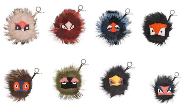 Fendi bag bugs: They're furry, they're Fendi, and they have faces. Eeeeee!!!!