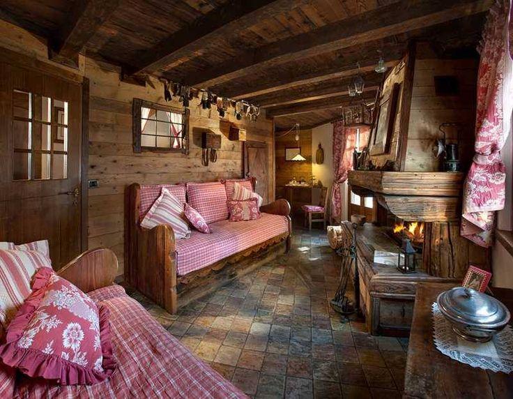 Cozy cabin cabana a sucre pinterest bayrisch h tten - Camere da letto di montagna ...