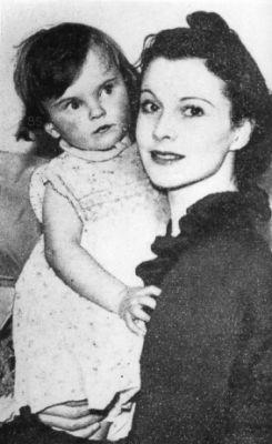 Vivien Leigh and daughter Suzanne Holman Farrington
