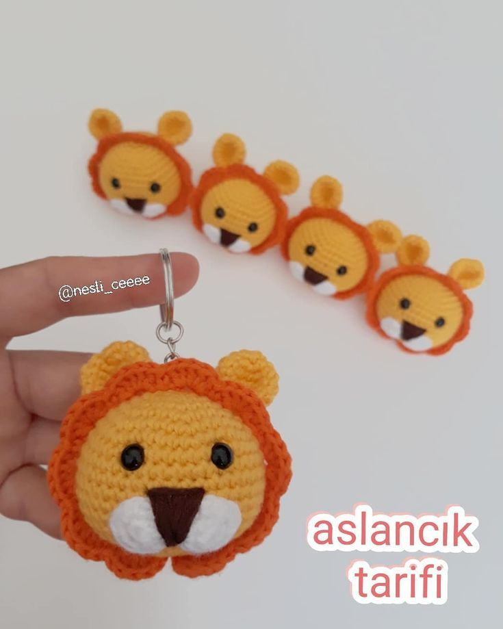 Pin By Mariana On Amigurumi Crochet Lion Crochet Keychain