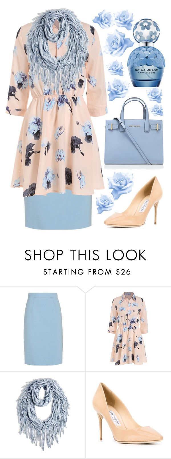 Modest outfits by lizzie2461 on Polyvore featuring Miu Miu, Jimmy Choo, Kurt Geiger and Chico's