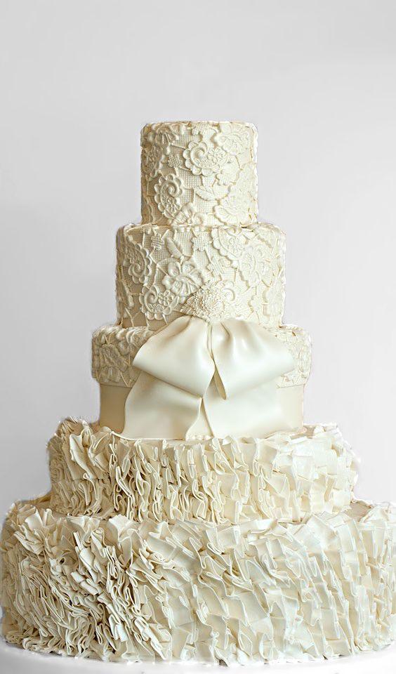 Wedding ● Cake ● Ruffled Cream