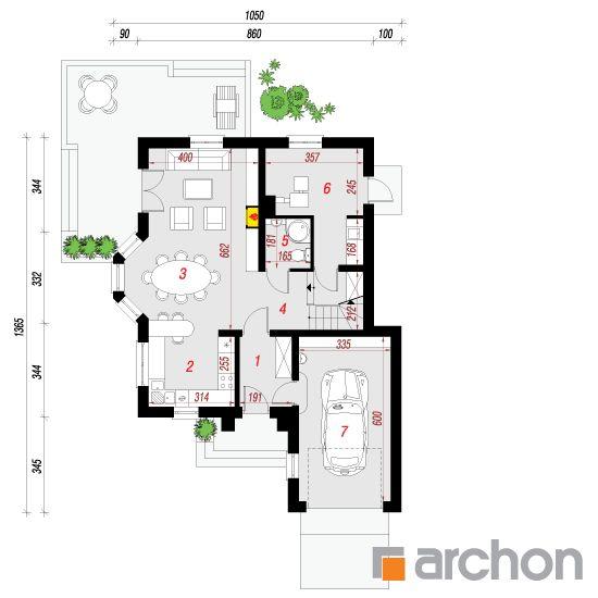 Дом в рукколе Проект ARCHON+ планы, разрез, Проекты малых домов (до 150 m2)