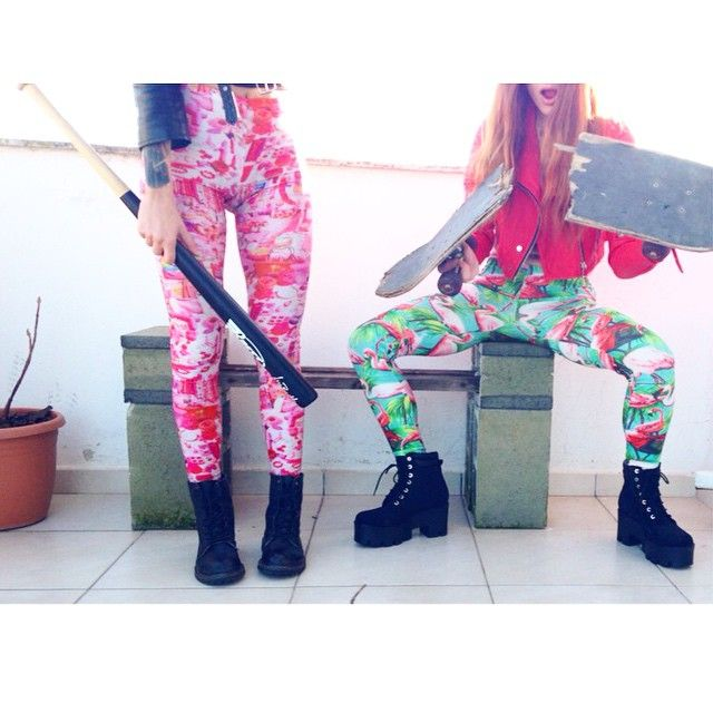 The flamingo and playground PCP leggings
