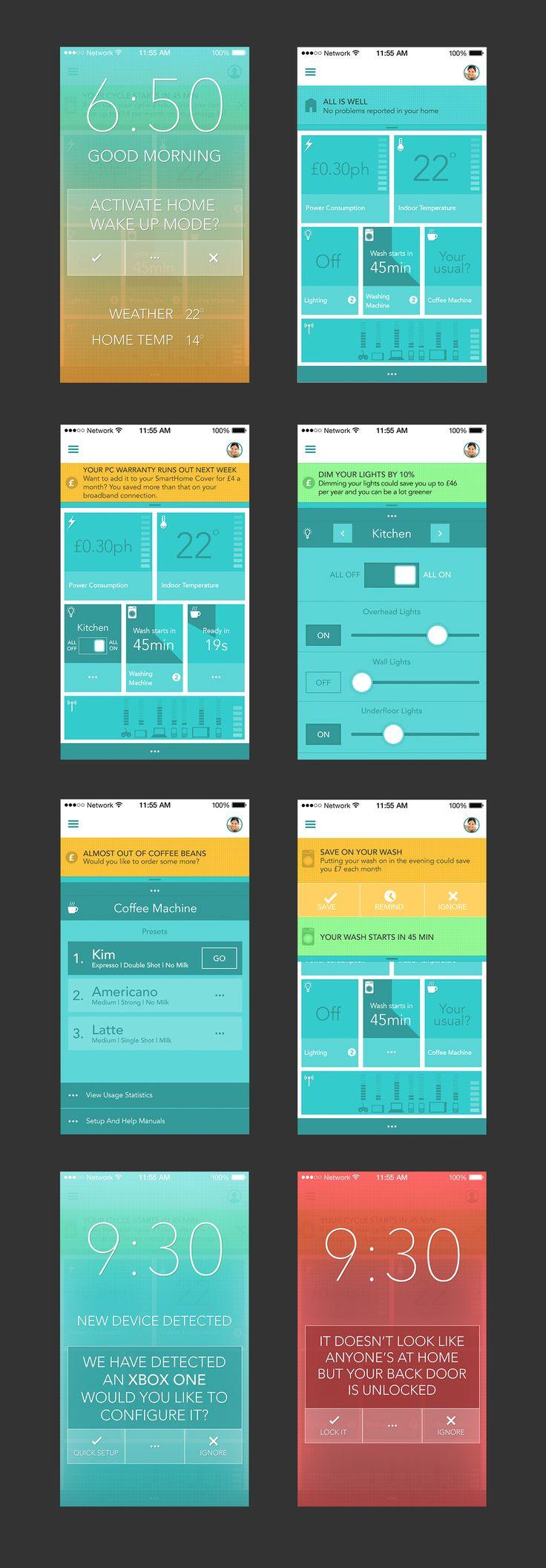 532 best UI > Home Automation images on Pinterest | Flat design ...