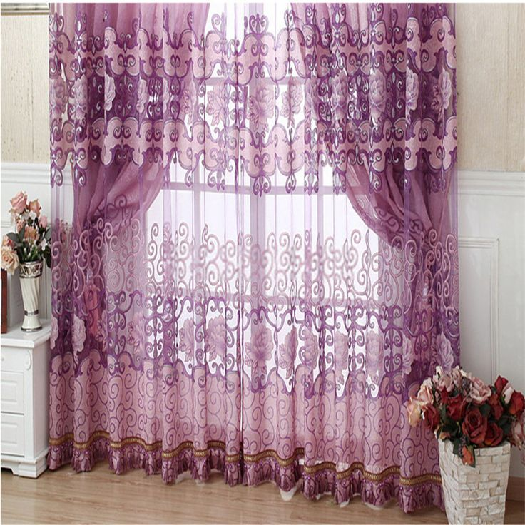 Fabulous And Contemporary Living Room Curtains In Purple Color No Include Valance