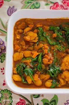 Chicken and Spinach Curry (Extra Easy - FREE ~ Original - FREE)