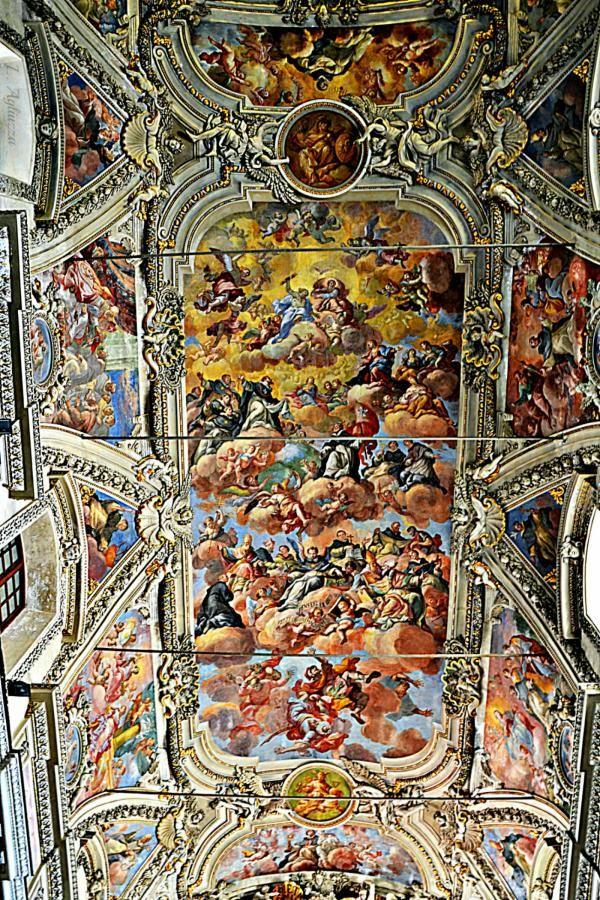affresco tetto della chiesa di Santa Maria Della Pietà Palermo