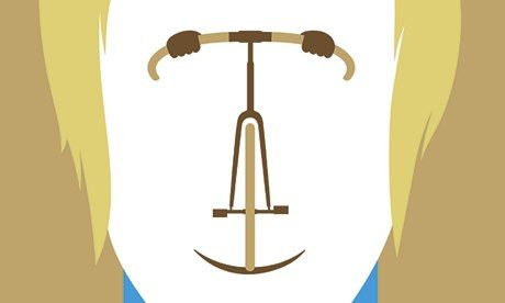 Look into my handlebars … a detail from Noma Bar's portrait of Bradley Wiggins. Click to enlarge