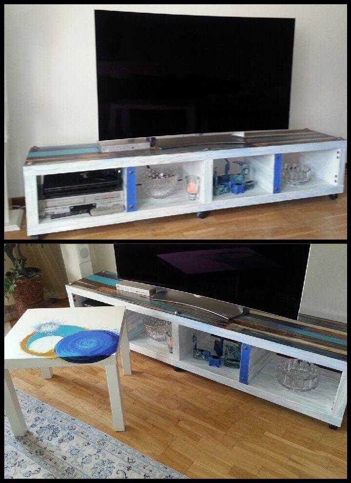 Tv bänk/tv banch -ikeas idea . Konst/art