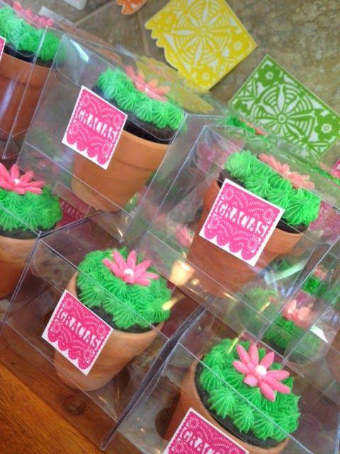 cactus cupcake party favor