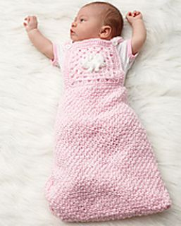 Beginning with a star, crochet from the middle out to make an adorable baby sleep sack in Bernat Baby Coordinates. (Bernat.com)