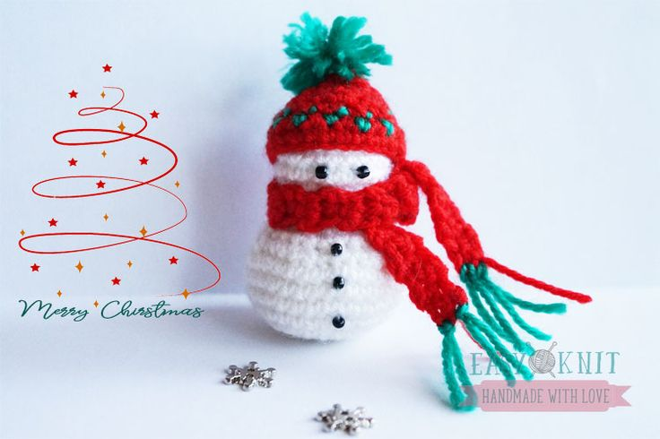 Snowman crochet. Снеговик крючком мастеркласс